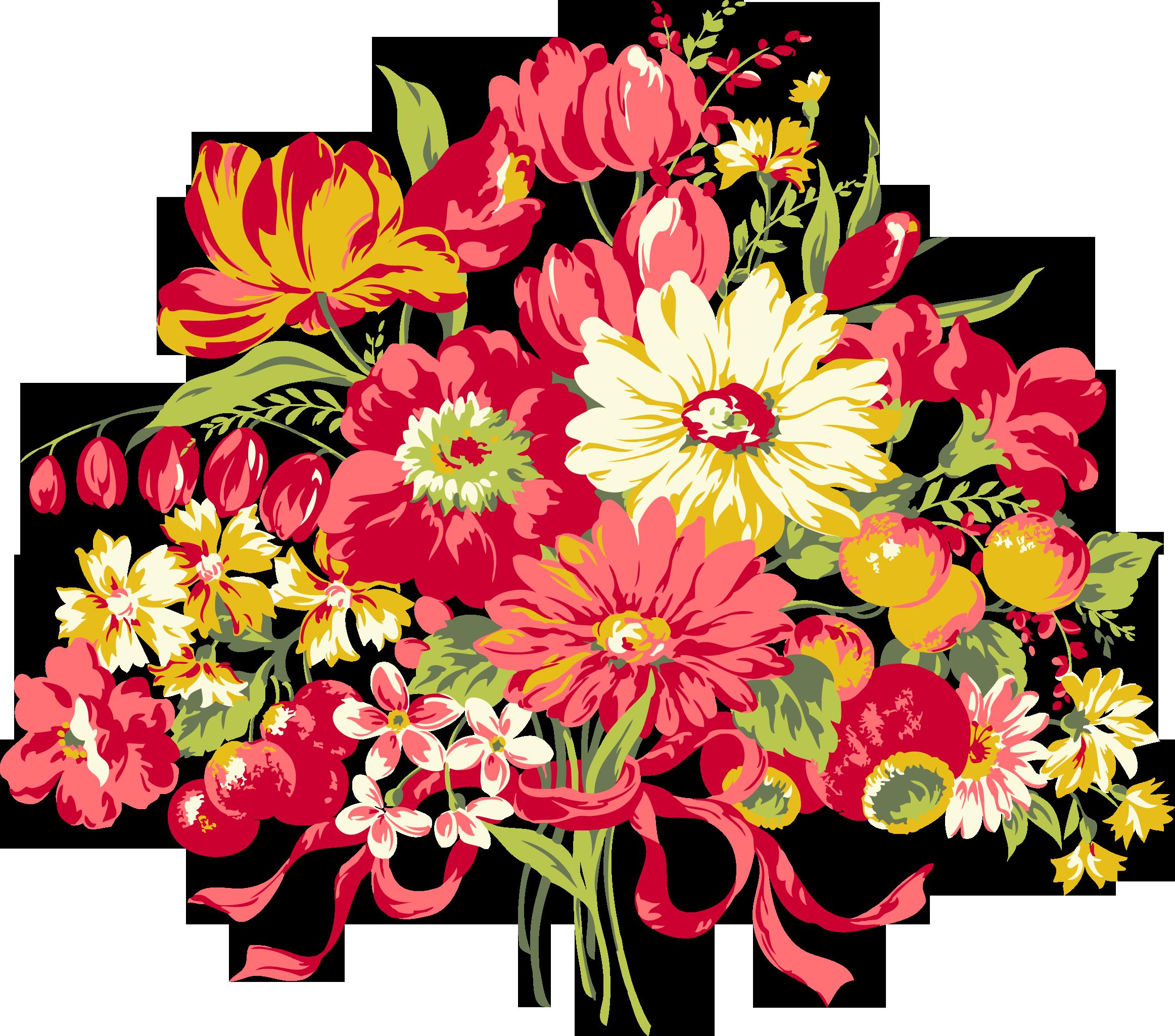 Красивые букеты цветов рисунки